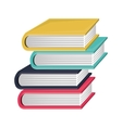 colorful and irregular stacked books vector image