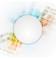 Colorful hi-tech background with blank circle vector image vector image