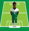 Computer game Nigeria Football club player vector image vector image