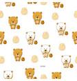 cute cartoon bear vector image vector image