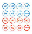 different rotation angles icon set vector image