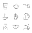 Drink icons set outline style vector image vector image