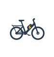 electric bike electro bicycle icon vector image vector image