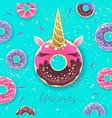 fantasy fairytale sweet donut like unicorn vector image