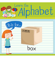 Flashcard letter B is for box vector image vector image