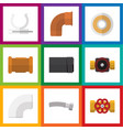 flat icon industry set of pump valve pipe vector image vector image