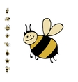 Funny bee sketch for your design vector image