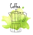geyser coffee sketch hand drawing style vector image vector image