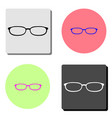 glasses flat icon vector image vector image