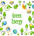 Green Energy eco environment poster vector image