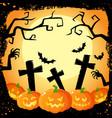 halloween banner poster postcard design vector image vector image