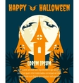 Halloween dark party invitation poster vector image