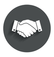 Handshake sign icon Successful business symbol