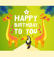 happy birthday children event tropic and exotic vector image