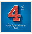 Happy independence day cards USA 4 th of July vector image vector image