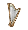 harp musical instrument vector image vector image