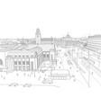 helsinki railway station vector image vector image