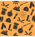 Hunting flat collage vector image
