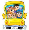 image with school bus theme 1 vector image vector image