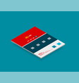 isometric concept of web site design templates vector image vector image