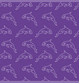 killer whale pattern seamless color vector image