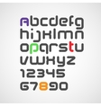 latin alphabet letters and numbers with rounded vector image