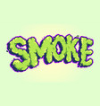 lettering smoke typeface pop art vector image