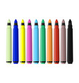 markers pen set of varioust color markers vector image vector image