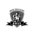 new zealand rugby player 2011 vector image vector image
