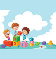 of kids playing vector image vector image