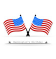 on the day of president a white background vector image vector image