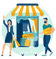 online and mobile shopping concept vector image vector image