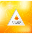 Orange tiangle abstract background vector image