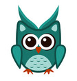 owl funny stylized icon symbol green colors vector image vector image