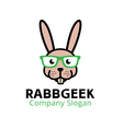 Rabb Geek Design vector image