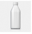realistic plastic bottle for water vector image