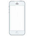 Realistic white iphone 5s with blank screen vector image
