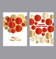 Red and gold pattern in china style vector image