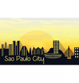 Sao Paulo City Silhouette vector image vector image