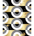 seamless pattern gold black white disco style vector image