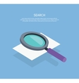 Search Icon Magnifying Glass Design Flat vector image