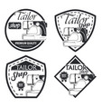 set 4 tailor badge vector image