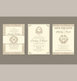 set of flags with classic strict ornaments vector image vector image
