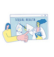 sexual health online school sexuality education vector image