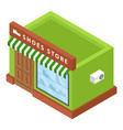 shoes store icon isometric style vector image