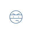 spy emoji line icon concept spy emoji flat vector image vector image