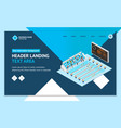 swimming competition concept landing web page vector image vector image