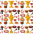 traditional russian cuisine culture dish seamless vector image vector image