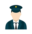 Train conductor icon vector image
