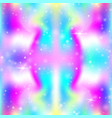 unicorn seamless background with rainbow mesh vector image vector image